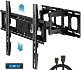 Everstone Full Motion TV Wall Mount with Height Adjustment for Most 32-65 inch LED, LCD, OLED Flat&Curved TVs, Bracket...