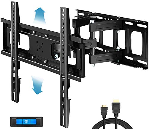 Everstone Full Motion TV Wall Mount with Height Adjustment for Most 32-65 inch LED, LCD, OLED Flat&Curved TVs, Bracket Swivel Articulating Arms Extension Tilt up to VESA 400mm, 121lbs, 16