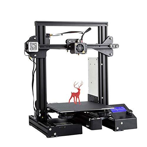 Kiyte Stampante 3D, Estrusore di Alta qualità con Rack per Filamenti Sospeso/Riprendi Stampa Alimentatore, per Hobbisti e Scuola Domestica, Regalo,Nero