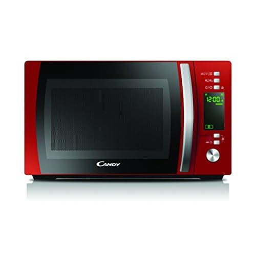 Candy CMXG20DR Forno Microonde con Grill, 20 Litri, 700 W, 5 Livelli di Potenza, 40 Programmi Automatici con App Cook-in, Digitale, Libera Installazione, 44x35.7x25.9 cm, Rosso