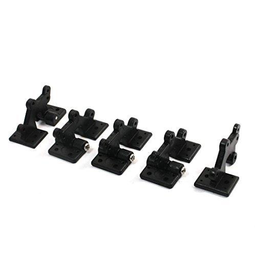 N/A - 5 piezas de plástico negro de 2 mm, agujero de montaje para puerta de bisagra de 30 x 16 x 17 mm