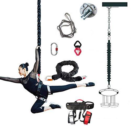 ZEH Luft Anti-Gravity-Schnur-Widerstand-Band-Set, Bungee-Tanz Fliegen Pilates Elastische Aufhängung Sling Training Pull Rope Workout Ausrüstung, 50kg FACAI (Size : 90KG)