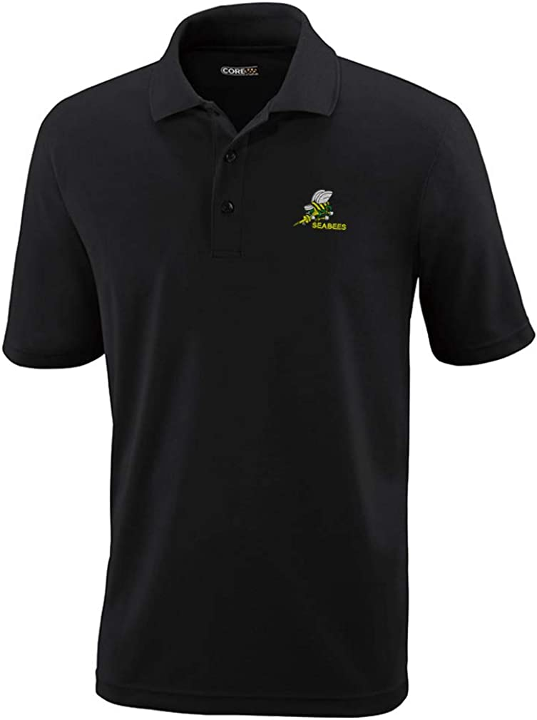 Polo Performance Directly managed store Shirt Seabees Embroidery Polyester free Golf Design