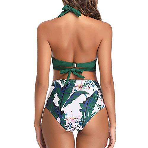 palatable Conjunto de Traje de baño Sexy Multifuncional Cintura Alta y Abdomen 2PCS Natación Vadeo Traje Deportivo Bikini Traje Dividido