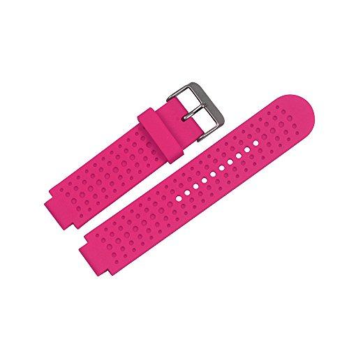 Für Garmin Forerunner 25 GPS Laufen Uhrenarmband, Bemodst Ersatz Zubehörteil Armband Weich Silikon U Bemodst (Rosenrot/Männer)