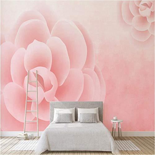 Guyuell Benutzerdefinierte 3D-Wandbild Tapete Für Wände 3D Vintage Rose Für Wohnzimmer Foto Tapeten Home Decor Blumen Hintergrund Wände Wandbilder-200X140Cm