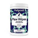 Petpost | Salviette per Zampe per Cani - Detergente Nutriente e Rivitalizzante per Zampe d...