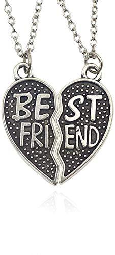 NC110 Juego de 2 Piezas, Collar con Colgante de Mejor Amigo, Collar de Amistad de Buen Amigo, joyería para Hombres y Mujeres, Regalos de cumpleaños YUAHJIGE