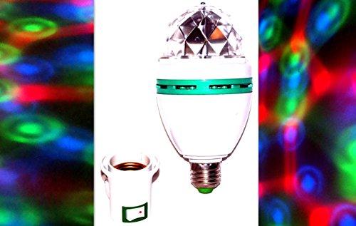 2 x RGB Party Licht Lampe Leuchte Discokugel Lichteffekt E27