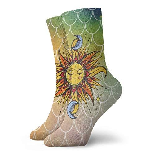 BJAMAJ Calcetines Unisex de Sirena con balanza interesantes Calcetines de poliéster para Adultos, Calcetines de algodón