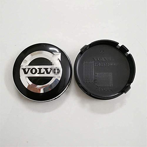 4 PCS Auto Center Hub Caps para VOLVO S40 S60 S80L XC60 XC90, 64mm Wheel Center Logo Badge Stickers Accesorios de decoración de modelado de neumáticos