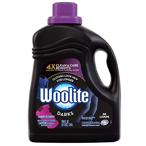 Woolite DARKS Liquid Laundry Detergent, Regular & HE Washers, Dark & Black Clothes & Jeans, midnight breeze scent, 66 Loads, 100 Fl Oz