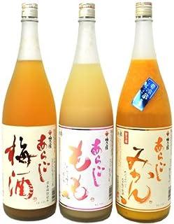 梅乃宿 あらごし 1800ml 3本セット (梅酒・もも・みかん)