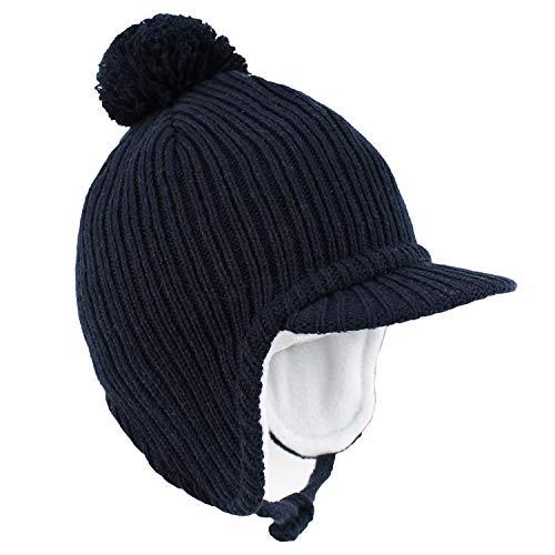 Hawtion algodón Calentar Tapa de Lengua de Pato Sombrero Caliente de Punto para Bebé, Gorros de Punto cálido para de niño niñas para otoño e Invierno 1-5 años