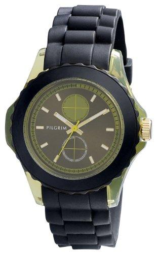 Pilgrim Damen-Armbanduhr XL Analog Quarz Kautschuk 701332402