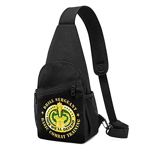 Lawenp Drill SGT Badge Basic Combat Training Chest Pack Crossbody Bag Chest Pocket Shoulder Bag