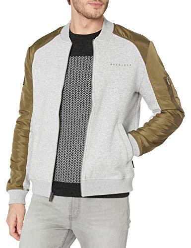 Sean John Men's Bomber Track Jacket, Athletic Grey Heather, X-Large
