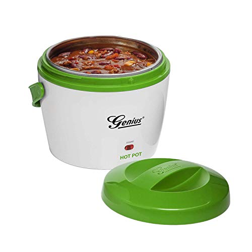 Genius Hot Pot Warmhaltebox 600ml Warmhaltebehälter Wärmebehälter Thermodose mit Deckel für Essen aus Edelstahl - Für das Aufwärmen von Speisen für unterwegs - Thermo-box Speisebehälter Speisenwärmer