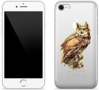 Etui na Apple iPhone SE (2020) - etui na telefon Crystal Design - Dzika sowa - guma case obudowa silikonowa wzory