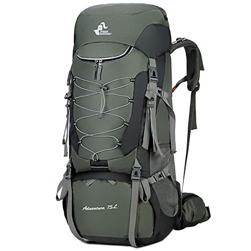 YLiansong-home Waterproof Travel Backpack 75L Large Trekking Rucksack Waterproof Outdoor Hiking Camping Internal Frame Backpack External Frame Camping (Color : Green, Size : 75L)