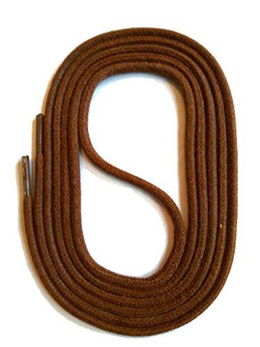 SNORS gewachste Schnürsenkel RUND BRAUN 130cm, 3mm, reißfest, Rundsenkel aus Baumwolle Made in Germany für Lederschuhe, Herrenschuhe, Business, Damenschuhe, Wildlederschuhe