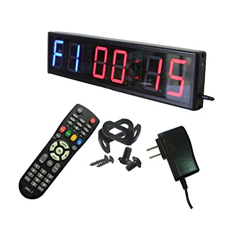 Ledgital Interval Timer Large Crossfit Clock for Home Gym 20x4.7in. Stopwatch Countdown/UP Timer for Gym w/Remote Control
