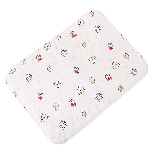 Manyo - Colchoneta cambiador reutilizable e impermeable, para cochecito, alfombra flexible plegable, lavable, 1 unidad (blanco)