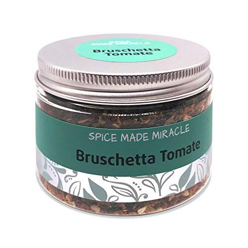 Spice Made Miracle Gewürzmischung Bruschetta Tomate - Würzmischung für Salat, Saucen und Fleisch, Grill - Grill Rub - Gourmet Gewürzmischung, 60g