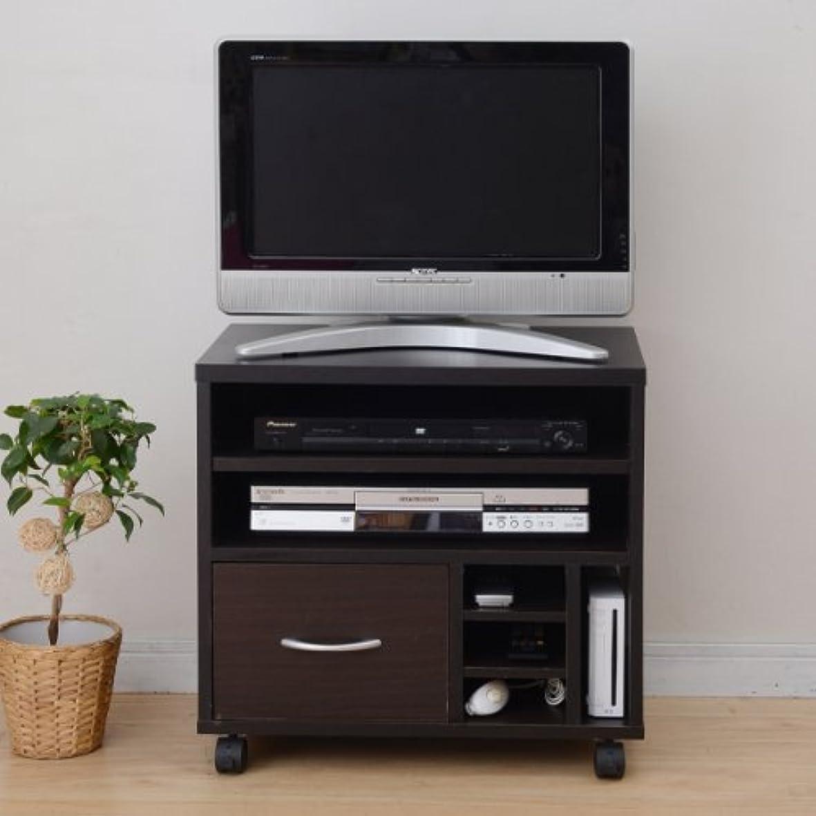 ウミウシ禁止するインシデント山善(YAMAZEN) まとめて収納できる小型テレビ台 FGTV-600C(DBR)