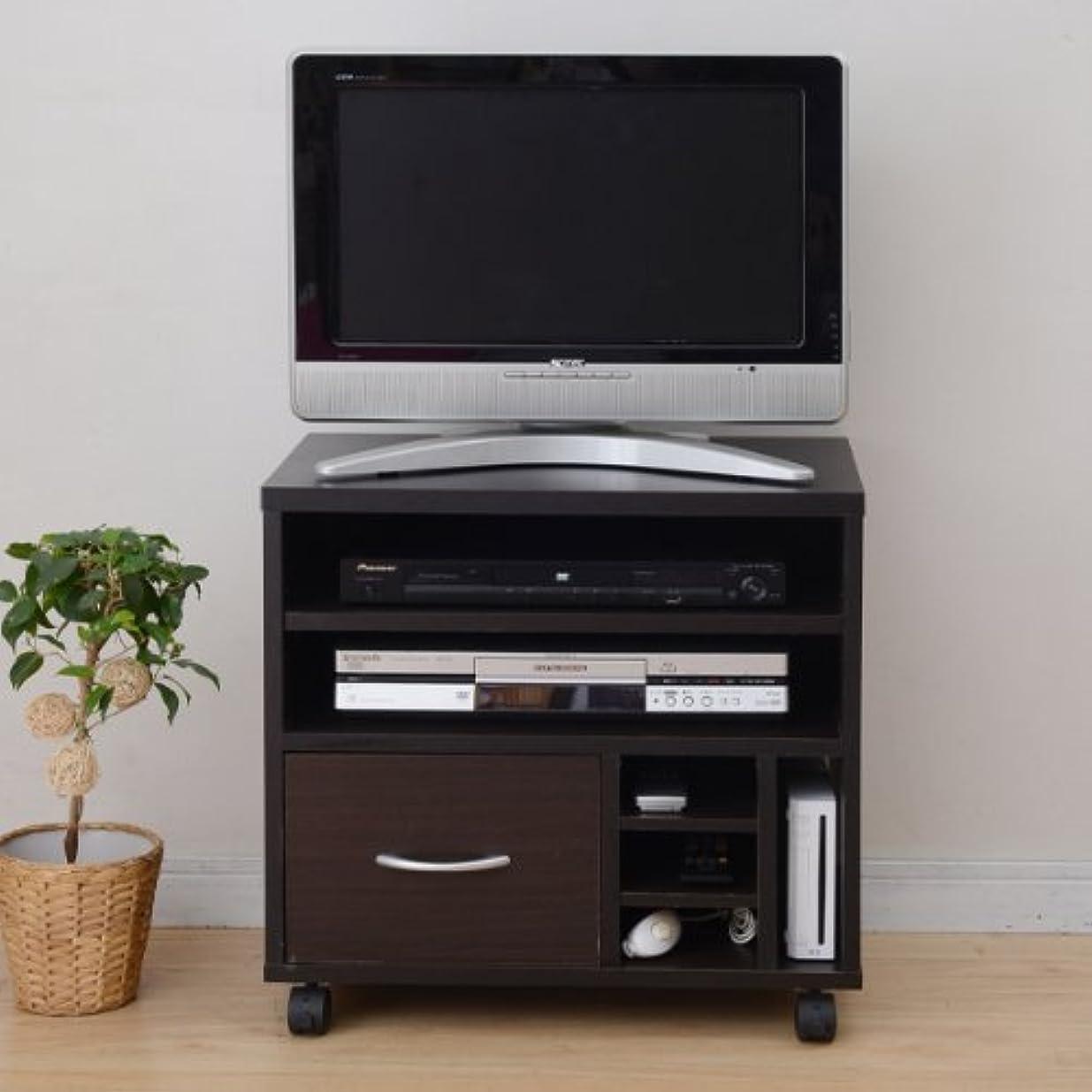 溶けた防止の配列山善(YAMAZEN) まとめて収納できる小型テレビ台 FGTV-600C(DBR)