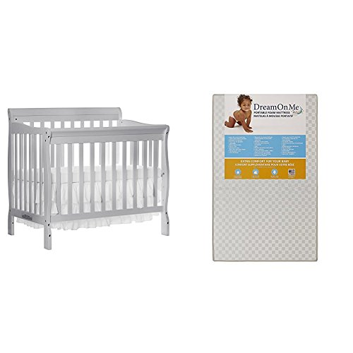 Dream On Me 4 in 1 Aden Convertible Mini Crib with Dream On...