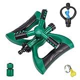 711TEK Garden Sprinkler Automatic Lawn Sprinkler Water Sprinkler Lawn Irrigation System 360 Degree Rotating Adjustable...