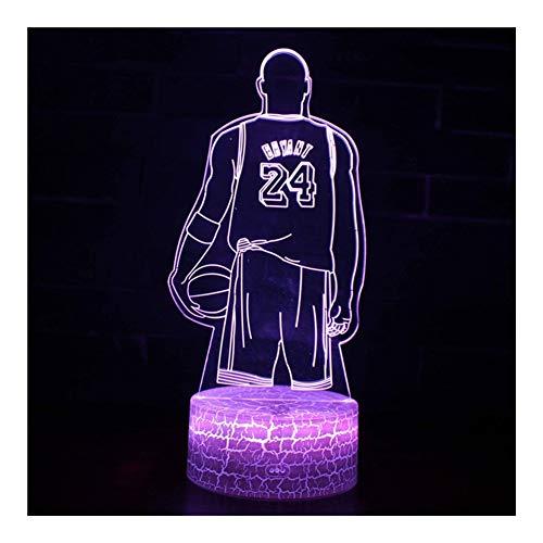 Affordable TXOZ 3D LED USB Creative Visual Table Lamp Kids Bedside Basketball Nightlight for Boyfrie...