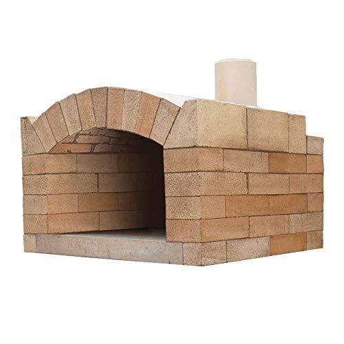 PUR Schamotte Milano Pizzaofen Bausatz + Anleitung, Holzbackofen/Steinofen Selber Bauen Garten