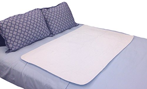 Large Premium Absorbent Waterproof Bed Pad (34 x52 Inch) - Washable 300x for Underpad Incontinence Protection for Seniors, Adult, Child, or Pets