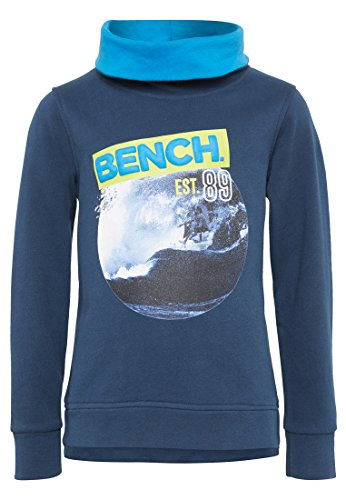 Bench Jungen Sweatshirt Graphic Funnel Sweat Blau (Dark Navy Blue Ny013) 116 (Herstellergröße: 5-6)