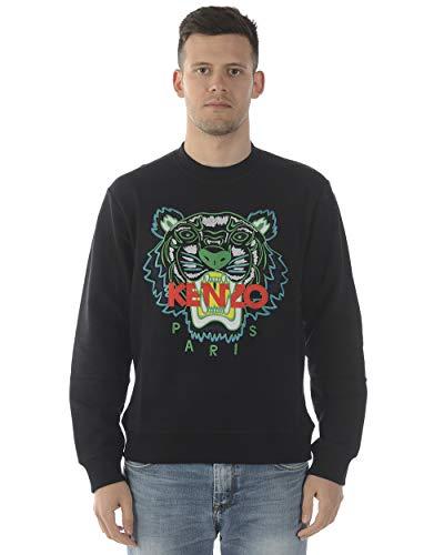 Kenzo Tiger Gesicht Sweatshirt weiß & grün SMALL Black