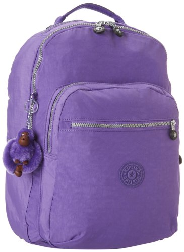 Kipling Seoul Large Backpack With Laptop Protection, Vivid Purple, One Size