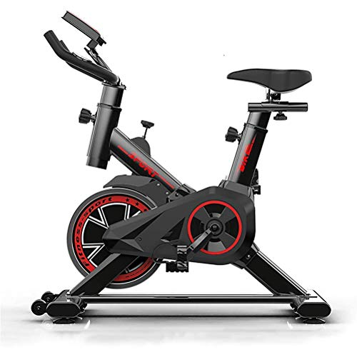 Read About JIN YU MAN TANG Indoor Cycling Bike, Silent Belt Drive Cycle Bike with Adjustable Handleb...