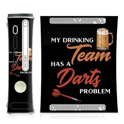 DeinDesign Skin kompatibel mit Microsoft Xbox 360 Aufkleber Folie Sticker Darts Dart Sport