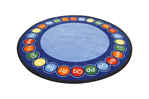 Learning Carpets ABC Rotary CPR458, Round, Large/9'