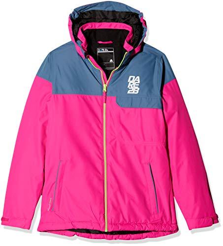 Dare2B Tyke wasserdichte und atmungsaktive isolierte Skijacke für Kinder XXL Cyber Pink/Astronomy Blue