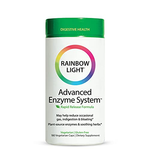 Rainbow Light Advanced Enzyme System , 180 Count (Package May Vary)