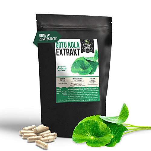 Gotu Kola EXTRAKT   10% Asiaticoside   120 KAPSELN 400mg   hochdosiertes Pflanzenextrakt   naturrein - ohne Zusätze   100% vegan und in Deutschland hergestellt (Kapseln 120 Stück)