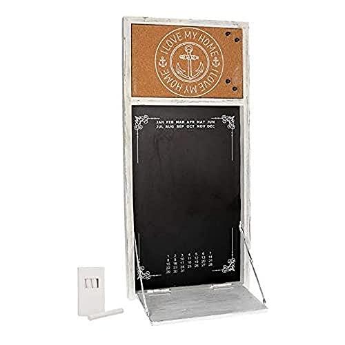 Vacchetti 4612170000 – Pizarra calendario con estante y yeso, 30 x 65 x 3,5/20 cm