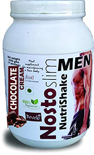 DEVELO NOSTOSLIM LOW CALORIE SLIMMING PROTEIN SHAKE FAT BURNER WEIGHT LOSS PRODUCT FOR MEN 1020 GM CHOCOLATE