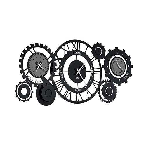 orologio da parete ingranaggi Arti & Mestieri Fuso Meccano - Orologio da Parete di Design 100% Made in Italy - in Ferro