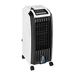 Air cooler/air purifier/humidifier/heater with two heat settings and no venting out of window required Three airflow settings normal/natural/sleep and wide angle blowing function 6.5 Litre water tank with water level indicator and two ice packs inclu...
