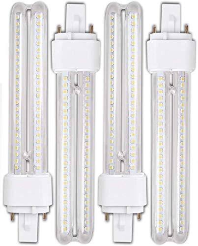 Genetic H268 15W- Pack 4 Bombillas PLC LED 15W Luz Fria A+ G24-3 2Pin H268 Título
