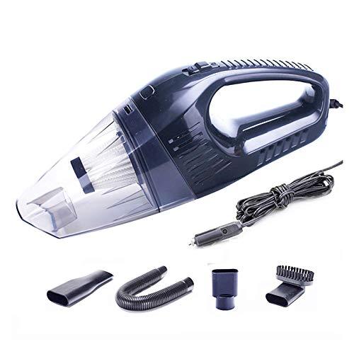 Mano de Mano Auto Aspirador Coche Seco Mojado Limpieza Tornado 12V Clealera de Aspirador Potente para Coche, hogar (Color : Black)